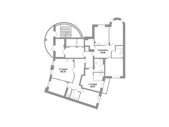Блок-секция 16. Планировка 2 этажа