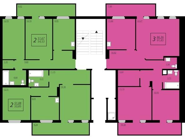 Планировки Жилой комплекс ЖИВЁМ эко-район, 2 квартал, дом 1