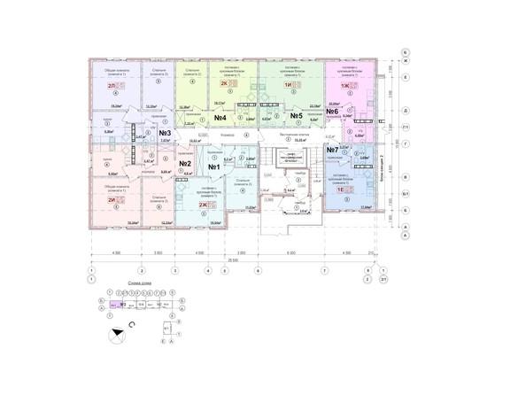 Планировки Жилой комплекс СЕВЕРНАЯ ЗВЕЗДА, дом 9, корпус 3 - Планировка 1 этажа, 1 б/с