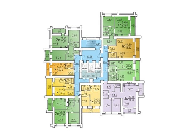Планировка 11, 13 этажа
