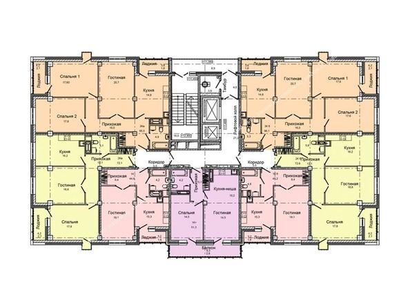 Планировки Жилой комплекс ВЕРШИНА - Планировка  типового этажа
