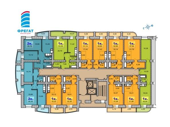 План типового этажа 1 подъезд