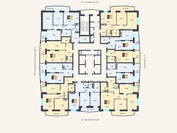 Планировки Жилой комплекс КАЛИНИНСКИЙ-2 - Планировка 4-24 этажей