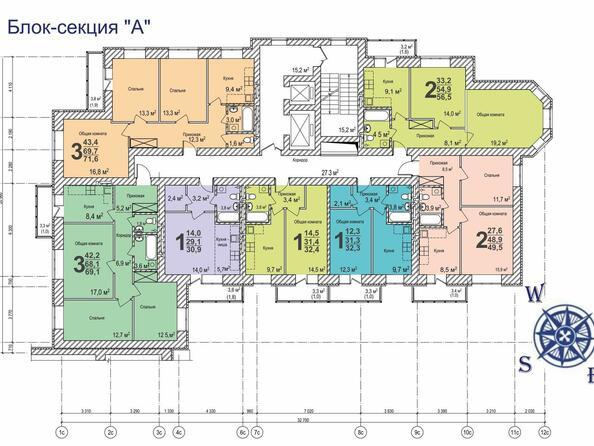 Планировка типового этажа б/с «А»