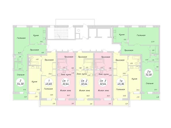 Планировки НА ТУЛЬСКОЙ, 2 этап - Блок-секция 1-6