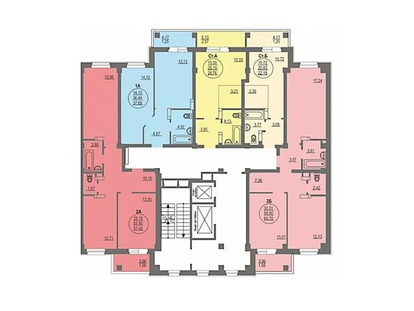Планировка типового этажа. Блок-секция 1