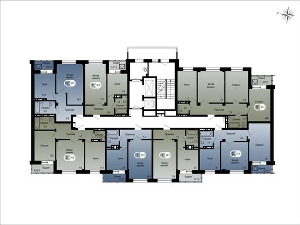 Планировки ТИХИЕ ЗОРИ, дом 1 (Спецстрой) - 3 подъезд