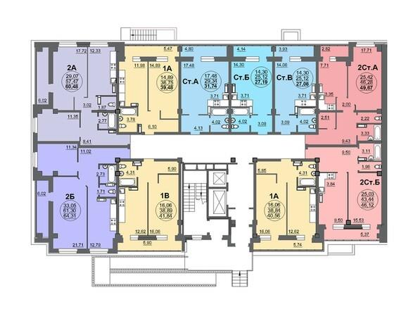 Планировки Жилой комплекс МАТРЁШКИ, дом 5 - Планировка 1 этажа, 1 б/с