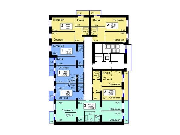 1-9 этажи 11 б/с