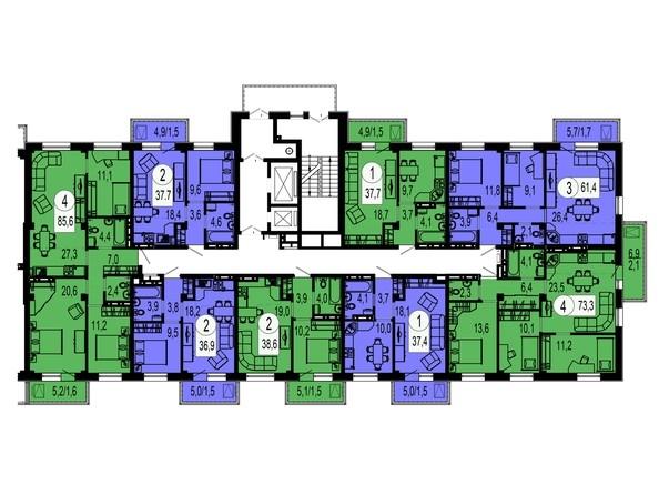 Секция 4. Типовая планировка этажа.