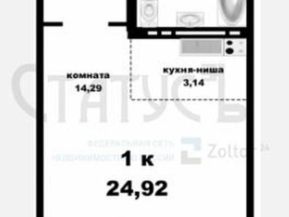 Продам , 24.92 м2, Северный Власихинский проезд, 98. Фото 1.