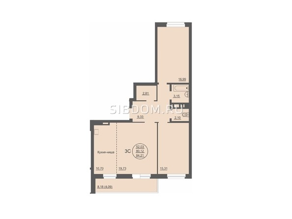 Продам 3-комнатную, 85 м², Северный Власихинский проезд, 98. Фото 16.
