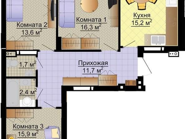 Продам 3-комнатную, 78.2 м2, Молодежная ул, 136. Фото 4.