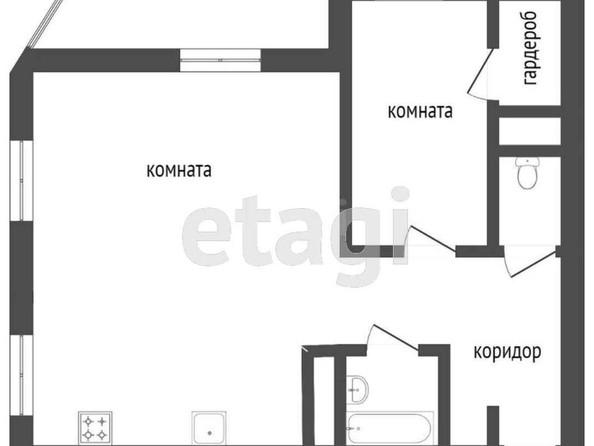 Продам 2-комнатную, 53.4 м², Ключевская ул, 6Д. Фото 1.