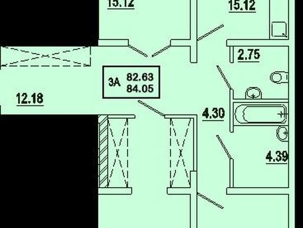 Продам 3-комнатную, 84.05 м2, 1-й Советский пер, 3. Фото 1.