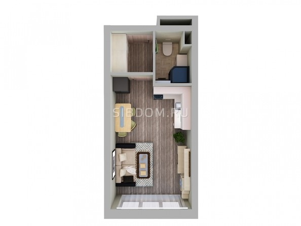 Продам 1-комнатную, 24.5 м2, МИЧУРИНСКАЯ АЛЛЕЯ, 58 корпус 3 . Фото 3.