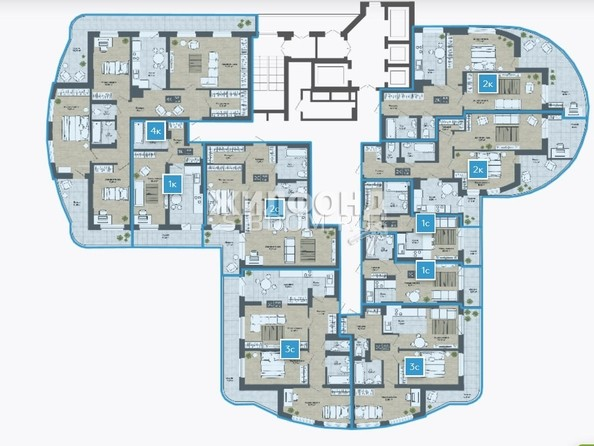Продам 2-комнатную, 66.77 м2, СОСНЫ, б/с 4,3. Фото 12.