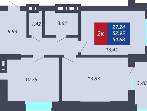 Продам 1-комнатную, 54.68 м², ЧКАЛОВ, дом 1. Фото 1.