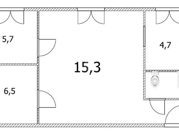 Продам 3-комнатную, 37 м², Торговая ул, 23. Фото 2.