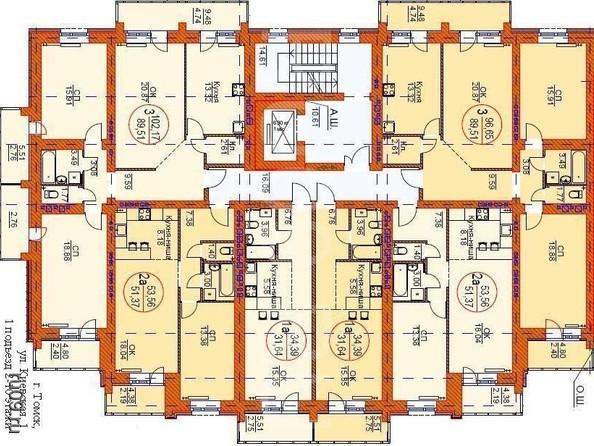 Продам 3-комнатную, 96.65 м², Киевская ул, 1. Фото 1.